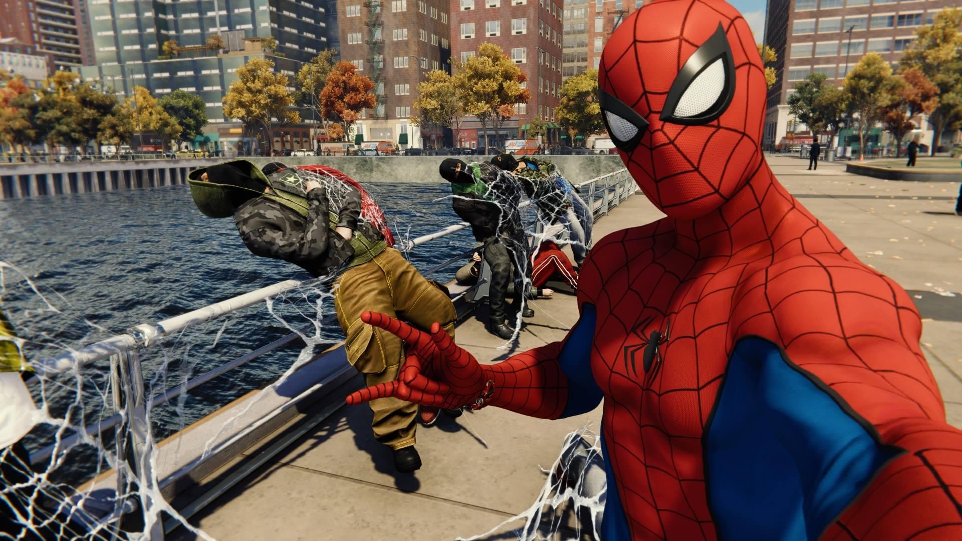 マーベル スパイダーマンの操作は、移動にしろバトルにしろ初心者でも馴染みやすいものとなっているので、誰でもカッコいいスパイダーマンを演じることが出来るのが本